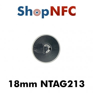 Etiqueta NFC NTAG213 18mm adhesiva