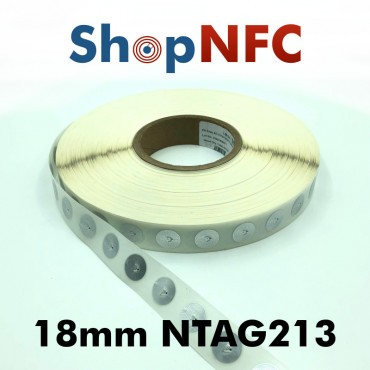 Tag NFC NTAG213 18mm adesivi