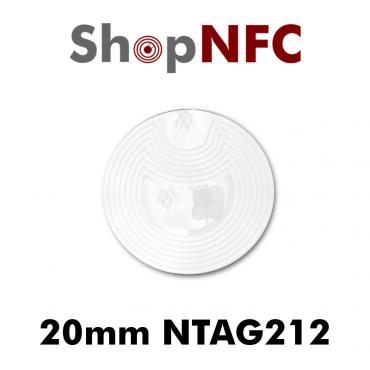Etiqueta NFC NTAG212 20mm adhesiva