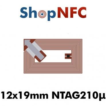 Tags NFC NTAG210μ 12x19mm adhésifs