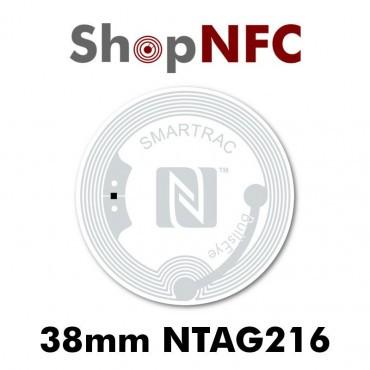 Etiqueta NFC NTAG216 38mm adhesiva