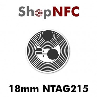 Etiqueta NFC NTAG215 18mm adhesiva