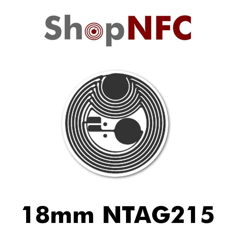 NFC Stickers nTag215 Round ø18mm