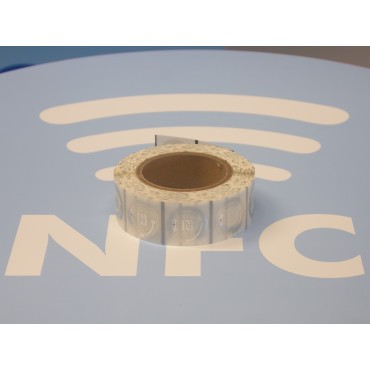 Clear NFC Stickers NTAG216 Round ø38mm