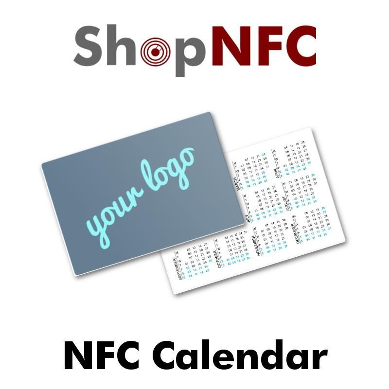 Calendario NFC formato Tarjeta