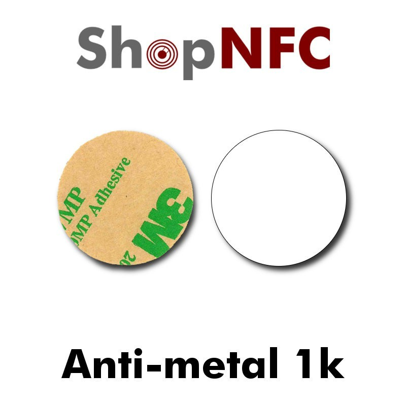 Tags NFC Anti-Métal adhésifs 1k