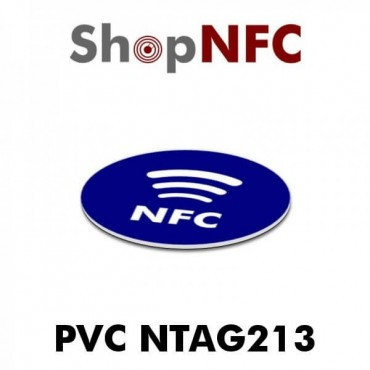 nTag213 Stickers in PVC with NFC Logo