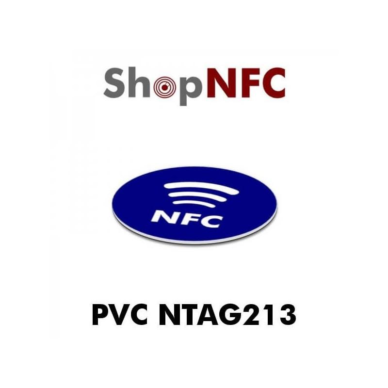 Etiqueta NFC adhesiva de PVC con logotipo NFC