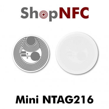 Tags NFC NTAG216 18/21 mm adhésifs