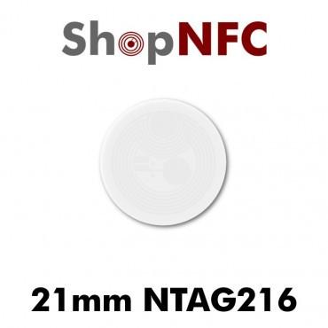 Tag NFC NTAG216 18/21mm adesivi