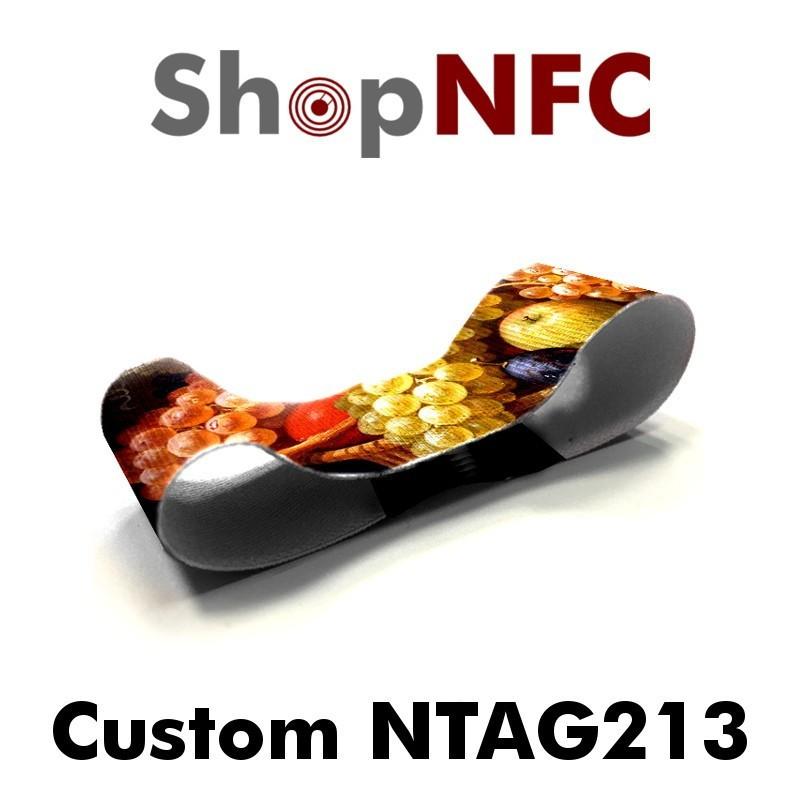 Pulsera NFC textil personalizada Ntag213