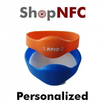 Custom Pad Printed Silicone NFC Wristbands