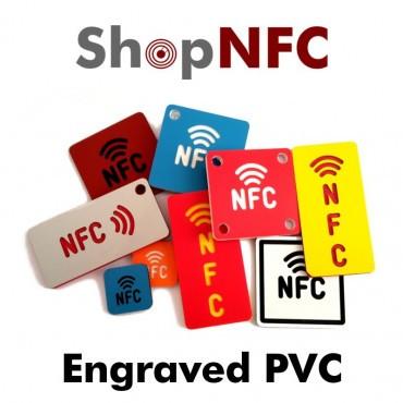 Pegatina NFC de PVC grabada con logotipo NFC