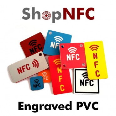 PVC Tags with Engraved NFC Logo