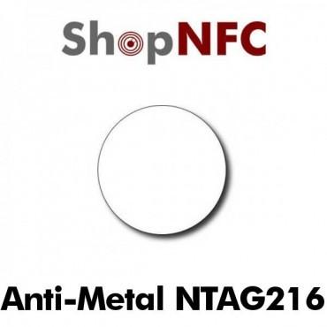 Tags NFC Anti-Métal NTAG216 ronds adhésifs 29mm