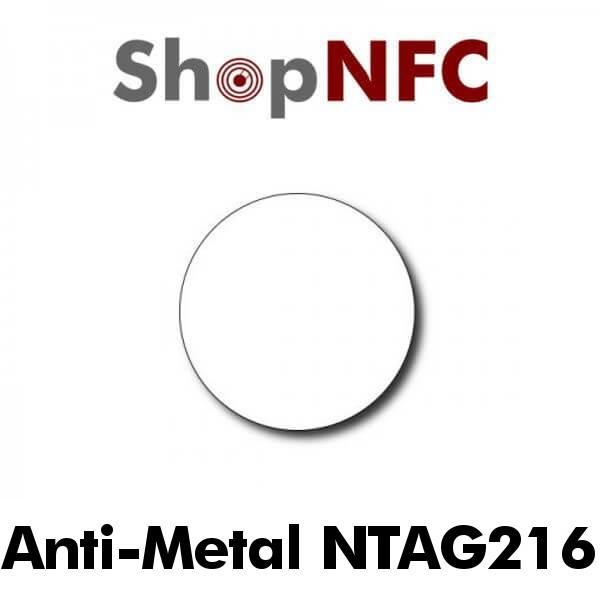 Etiqueta NFC antimetal NTAG216 redonda adhesiva 29mm