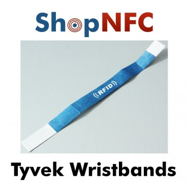 Disposable NFC Wristbands in Tyvek - Custom Printed