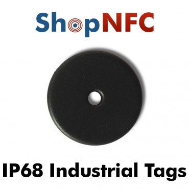 Disco NFC industrial IP68 Ntag213 antimetal 22mm