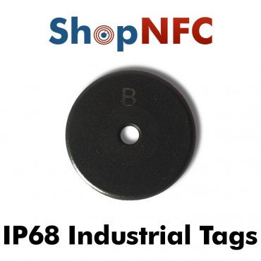 Tag NFC industriali IP68 Ntag213 schermati 22mm