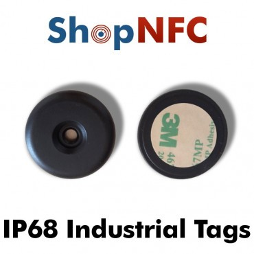 Etiqueta NFC industrial IP68 Ntag21x antimetal adhesiva