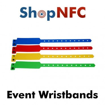 Disposable NFC Wristbands NTAG21x - Customizable