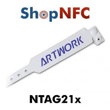 Pulsera desechable NTAG21x - Personalizada