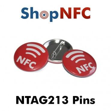 Chapa NTAG213 de metal con logotipo NFC