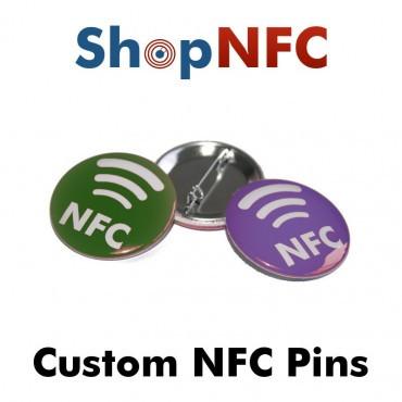 Épingles NTAG213 en métal avec logo NFC