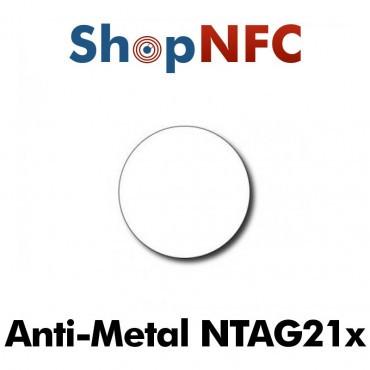Etiqueta NFC antimetal NTAG21x redonda adhesiva 29mm