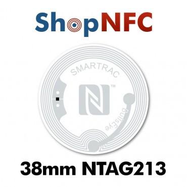 Tags NFC NTAG213 38mm adhésifs