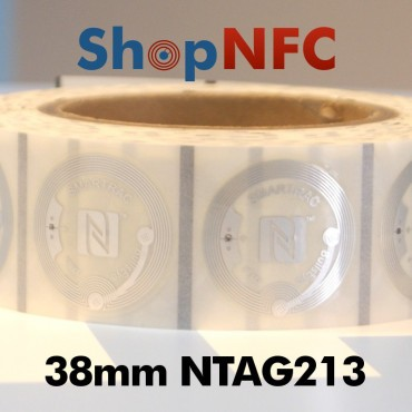 Clear NFC Stickers NTAG213 Round ø38mm