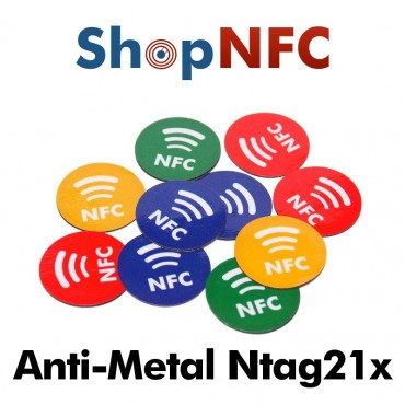 NFC On-Metal Tags NTAG213/6 mit NFC Logo