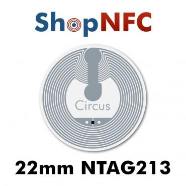 Tags NFC NTAG213 22mm adhésifs