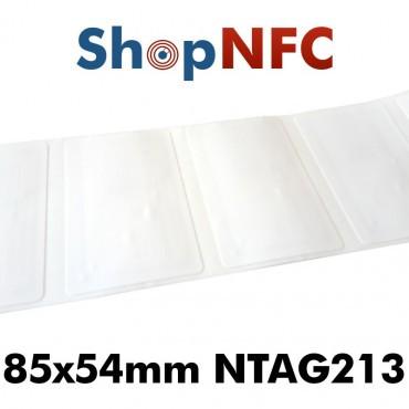 Tags NFC NTAG213 adhésifs 85 x 54 mm