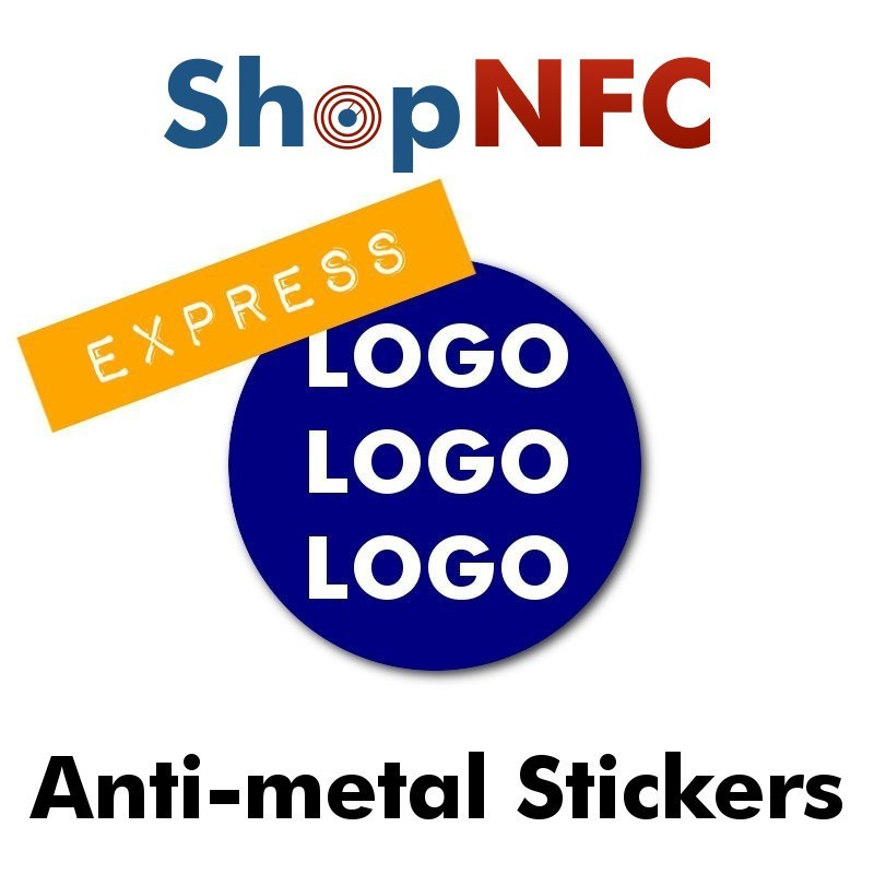 Personalized ntag series nfc stickers for metal surfaces express printing universal compatibility customizable artwork round ø 29 mm