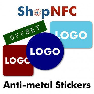 Custom Printed NFC Stickers for Metals - Offset