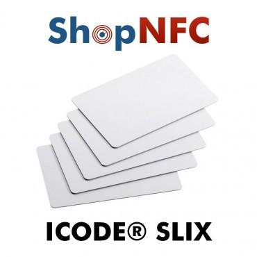 Tarjetas NFC en PVC blancas NXP ICODE® SLIX