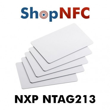 Tessere NFC in PVC bianche NTAG213