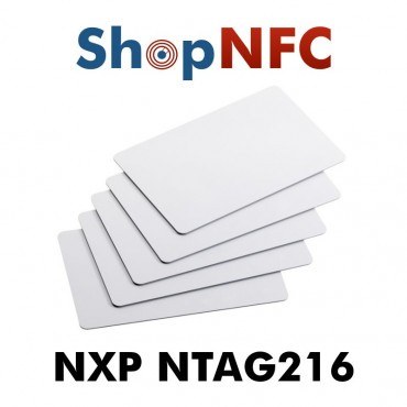 White NFC Cards in PVC NTAG216