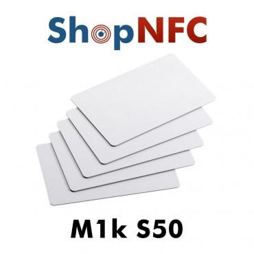 Tarjetas NFC en PVC blancas 1k