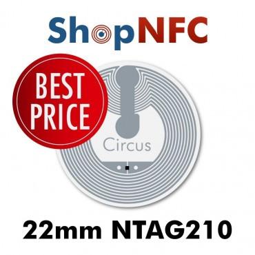 Tag NFC NTAG210 22mm adesivi