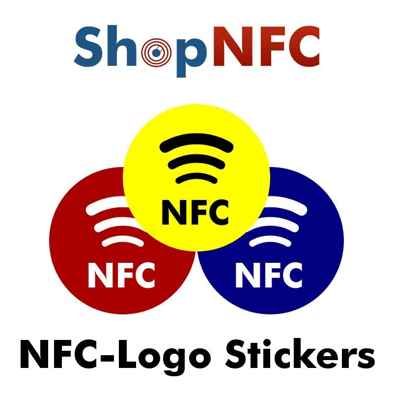Nfc sticker tags with chip ntag213 printed with nfc logo this sticker is durable and fully waterproof universal compatibility