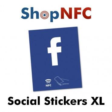 Etiqueta NFC NTAG213 adhesiva con Logotipo Social 8x10cm