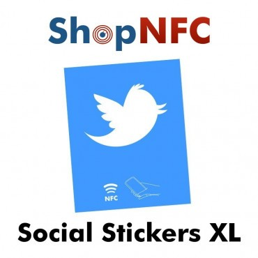 Tag NFC NTAG213 adesivi con Loghi Social 8x10cm