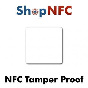 Tags NFC Tamper Proof NTAG213 52x52mm adhésifs