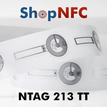 Etiqueta NFC Tamper Loop NTAG213 TT adhesiva