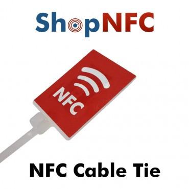 Abrazadera NFC de nylon con indicador NTAG210μ/NTAG213/NTAG216
