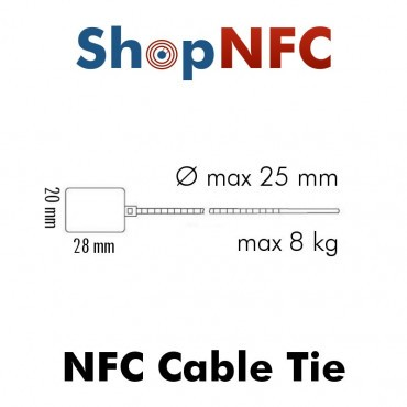 Cable Tie NFC Tags NTAG21x