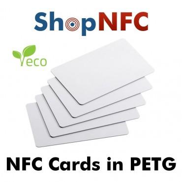 Tarjetas NFC en PETG blancas NTAG21x
