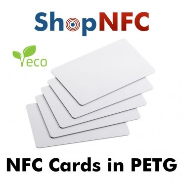 Tessere NFC in PETG bianche NTAG21x